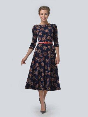 Сукня синя в квітковий принт | 3505454