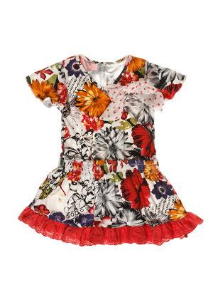 Платье-обманка в принт | 3507798
