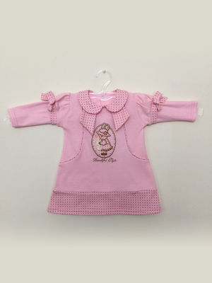 Платье розовое с рисунком | 3514944