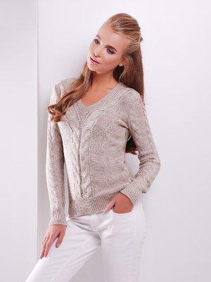 Пуловер кольору капучино   3522018