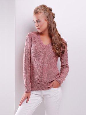 Пуловер розовый | 3522019