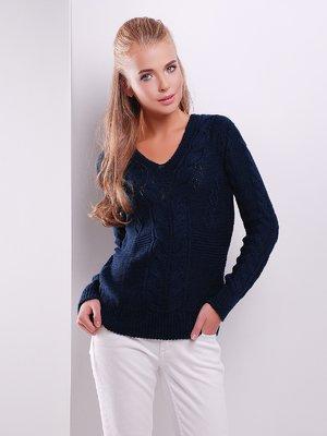 Пуловер темно-синий | 3522021