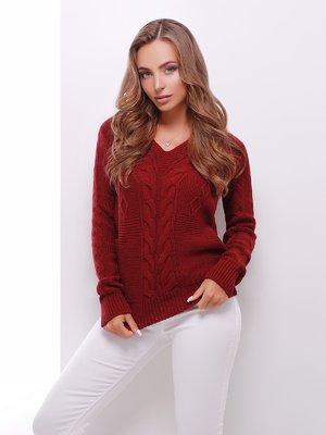 Пуловер бордовий | 3522024