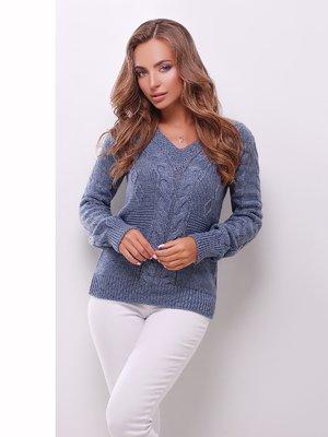Пуловер синий | 3522025