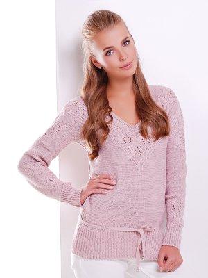 Пуловер кольору пудри   3521980