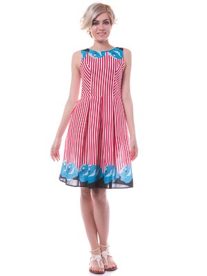 Платье комбинированной расцветки | 2337989