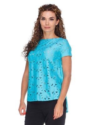 Блуза ажурна з асиметричним низом | 3260056