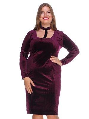 Платье бархатное фиолетовое | 3130148