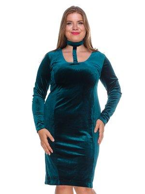 Платье бархатное изумрудное | 3130152