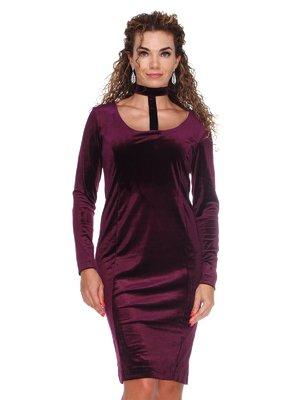 Платье бархатное фиолетовое | 3130147