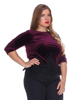 Блуза бархатная фиолетовая | 3158711