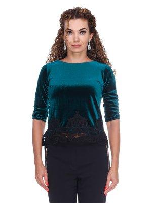 Блуза бархатная изумрудная | 3158714