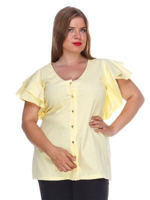Блуза з льону жовта | 3315339