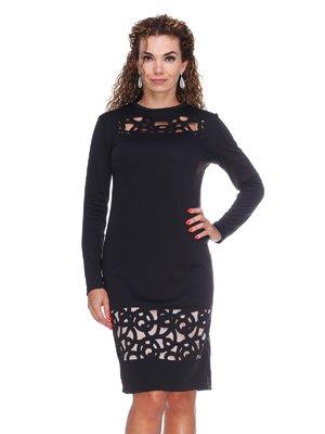 Платье черное с перфорацией | 3046178