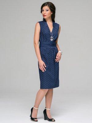 Сукня синя в принт | 3527631