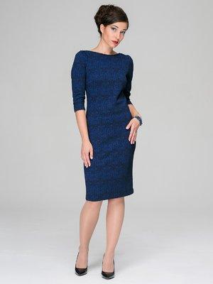 Платье синее в принт | 3527651
