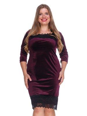 Платье бархатное фиолетовое | 3207640