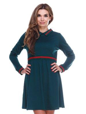 Однотонное удобное платье с завышенной талией | 2763911
