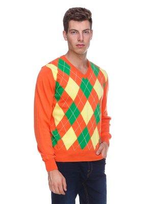 Пуловер помаранчевий в ромби | 1918794