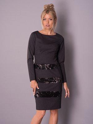 Платье темно-серое | 2937154