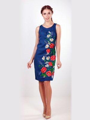 Сукня синя з вишивкою | 3554871