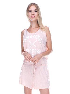 Комбинезон розовый с надписью | 2355084