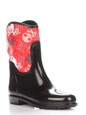 Сапоги черно-красные | 2096725