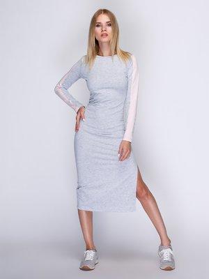 Сукня сіра з рожевими вставками | 3554102