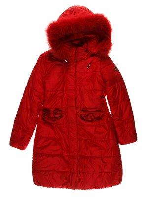 Пальто красное   3555180