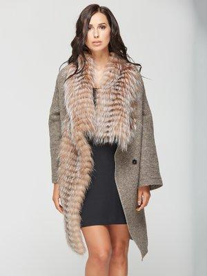 Пальто кольору капучино   3566483