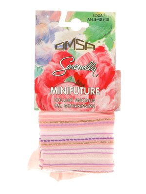 Колготки розовые в полоску - Omsa - 3564350