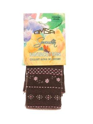 Колготки кофейного цвета в принт - Omsa - 3564364