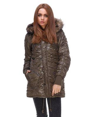 Куртка цвета хаки   3557654