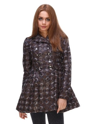 Куртка коричневая в принт | 3557657