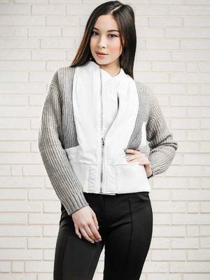 Куртка сіро-біла | 3569317