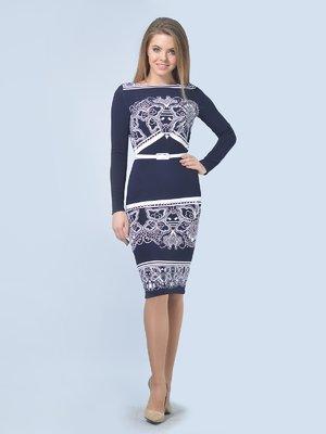 Платье сине-белое | 3571409