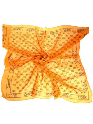 Хустка помаранчева в принт | 3578589