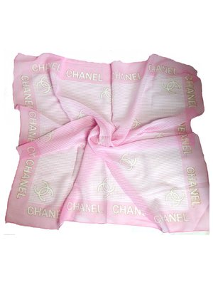 Платок розовый в принт | 3578590