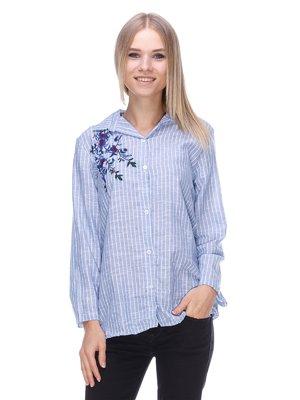 Рубашка в полоску - MODAMORE FASHION - 3488119