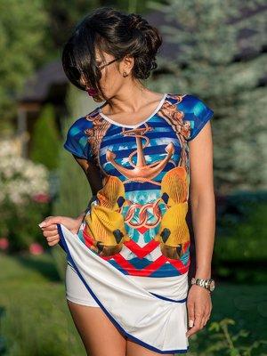Костюм: футболка и юбка-шорты | 3583428