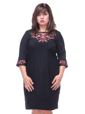 Платье черное с вышивкой | 3578574