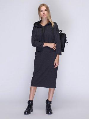 Платье темно-серое | 3581722