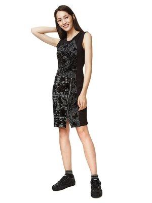 Платье черное в принт | 3555639