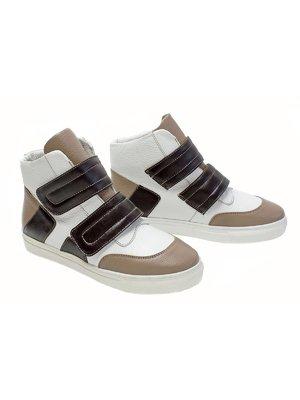 Ботинки белые с контрастными вставками | 2241945