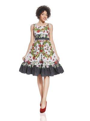 Платье в цветочный принт | 3191312
