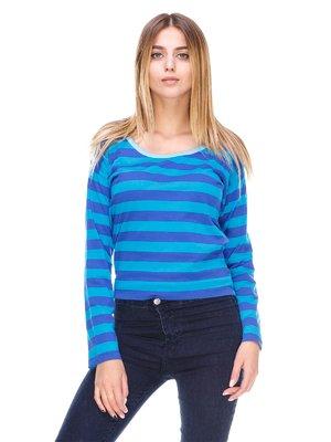 Лонгслів синьо-блакитний в смужку | 2605324