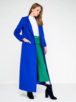 Пальто кольору морської хвилі | 3606564