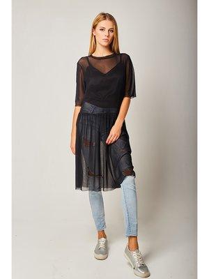 Платье-сетка черное | 3617400