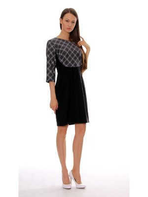 Сукня чорно-сіра в клітинку | 3619375