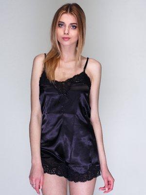 Комбинезон черный пижамный | 3612296